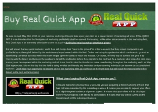 Real Quick Web Adding Millions of Prospects to Marketers