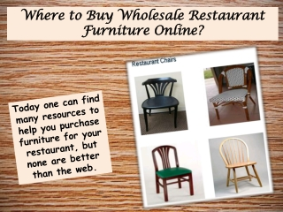 Where to Buy Wholesale Restaurant Furniture Online?
