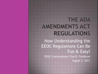 Purpose of the Regulations