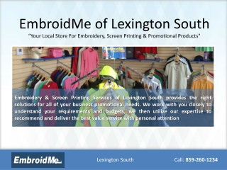 Embroidery Lexington ky, promotional products lexington ky