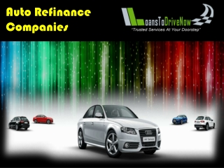 Which Are The Car Refinance Companies With Low Interest Rate