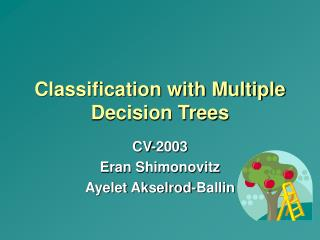 Classification with Multiple Decision Trees