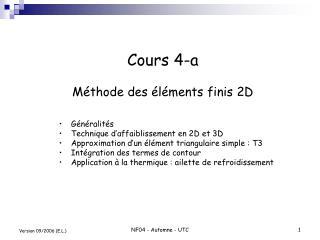 Cours 4-a  M thode des  l ments finis 2D