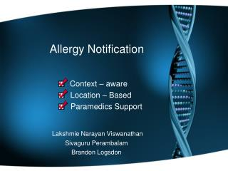 Allergy Notification