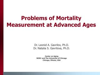 Problems of Mortality Measurement at Advanced Ages