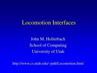 Locomotion Interfaces