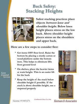 Back Safety: Stacking Heights