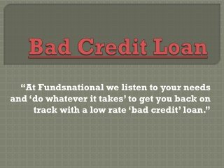 Bad Credit Loan | Mortgage Arrears