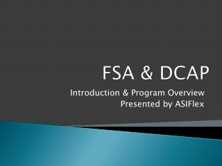 FSA  DCAP