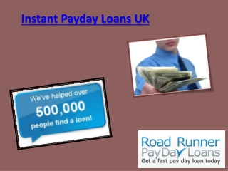 Instant Payday Loans Uk