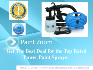 paint zoom - the trend setter in power paint sprayers