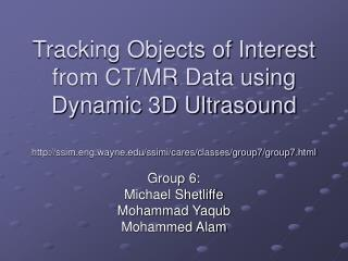 Tracking Objects of Interest from CTMR Data using Dynamic 3D ...