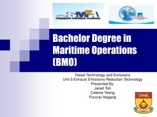 Bachelor Degree in Maritime Operations BMO