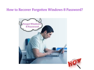 How to Recover Windows 8 Password If Forgot or Lost?