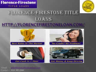 florence-firestone auto title loans