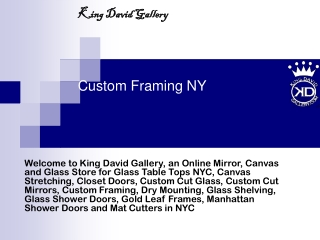 custom framing ny