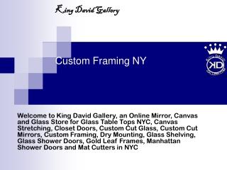 custom framing ny