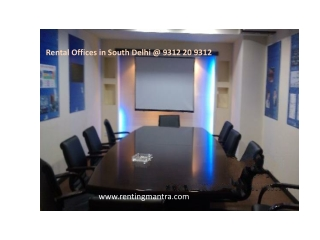Rental Offices in South Delhi