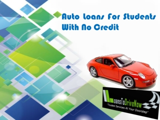 Get Student Car Loans No Credit Check Preapproved!