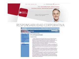 Ángel Ron da el ok a los Principios de Ecuador
