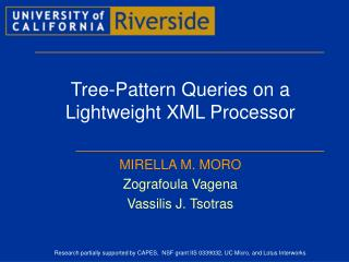 Tree-Pattern Queries on a Lightweight XML Processor