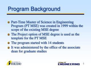 Program Background