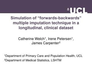 Simulation of  forwards-backwards   multiple imputation technique in a longitudinal, clinical dataset