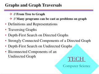 Graphs and Graph Traversals
