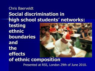 Social discrimination in high school students  networks: testing ethnic boundaries and the effects of ethnic composition