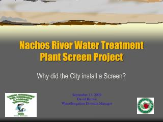 Naches River Water Treatment Plant Screen Project