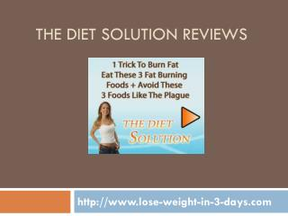 the diet solution reviews