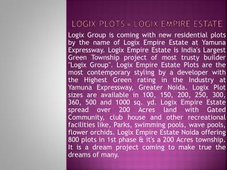 logix plots noida|@8860623211|logix empire estate plots yamu
