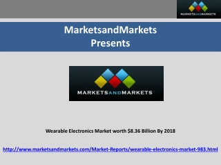 Wearable Electronics Market worth $8.36 Billion By 2018