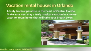 Vacation rental houses in orlando