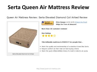 serta elevated diamond coil air bed review
