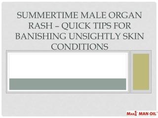 Summertime Male Organ Rash