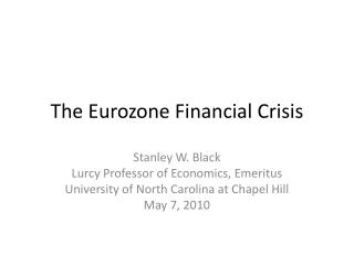 The Eurozone Financial Crisis