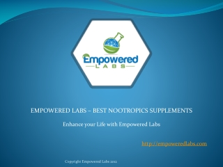 Empowered Labs - Best Nootropics Supplements