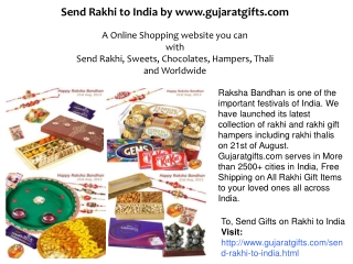 Importance of Send Gifts on Rakhi to India