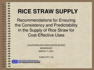 RICE STRAW SUPPLY
