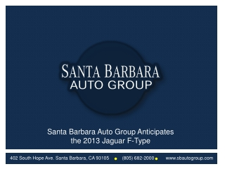 Santa Barbara Auto Group Anticipates the 2013 Jaguar F-Type