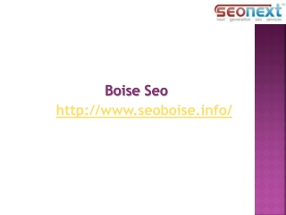 Boise Search Engine Optimization