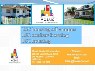 Excellent USC Student Housing Options for You
