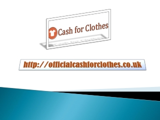 Cash For Clothes