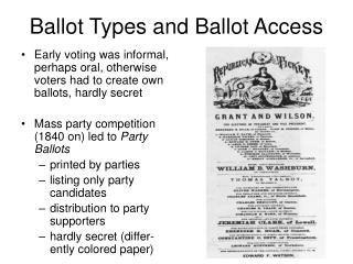 Ballot Types and Ballot Access