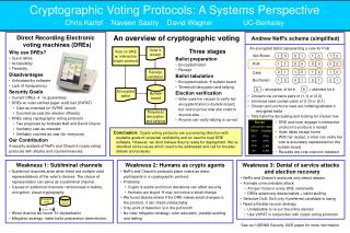Cryptographic Voting Protocols: A Systems Perspective