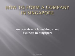 How to form a company Singapore
