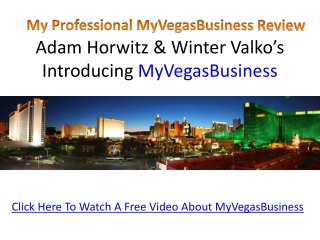 My Vegas Business Review