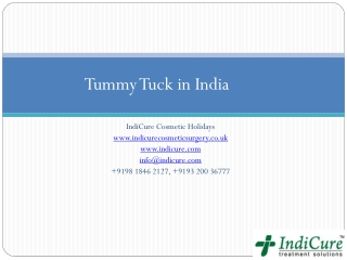 Tummy Tuck in India