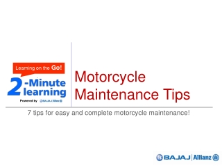Car Insurance | Motor Insurance - bike maintenance tips